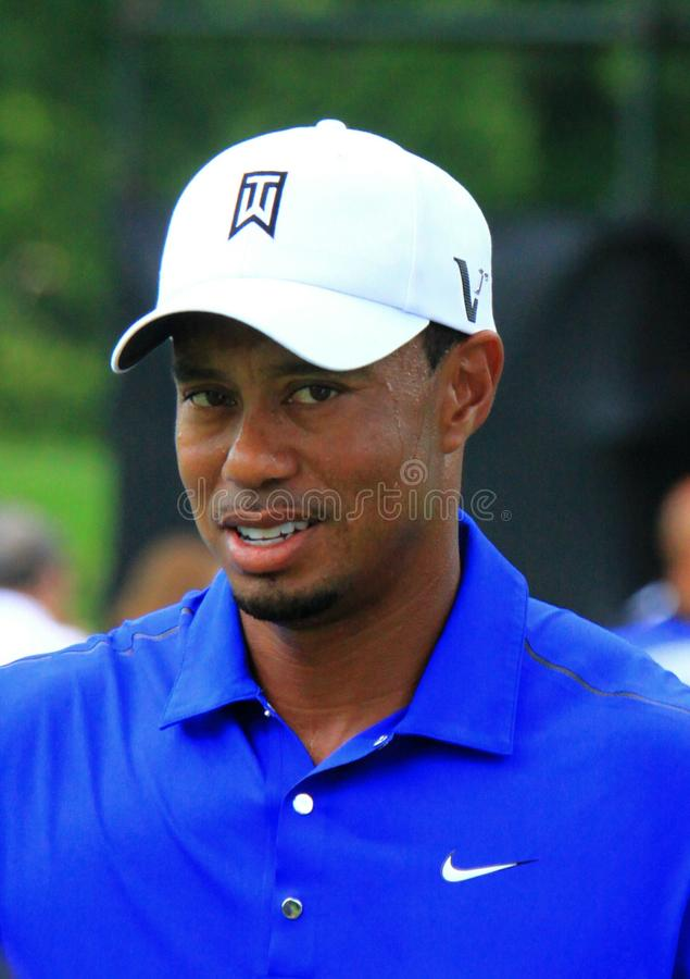 Tiger woods. Pro golfer Tiger Woods walks to the next hole at a PGA event royalty free stock images