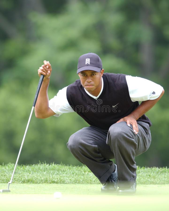 Tiger Woods. Professional Golfer legend Tiger Woods stock photo