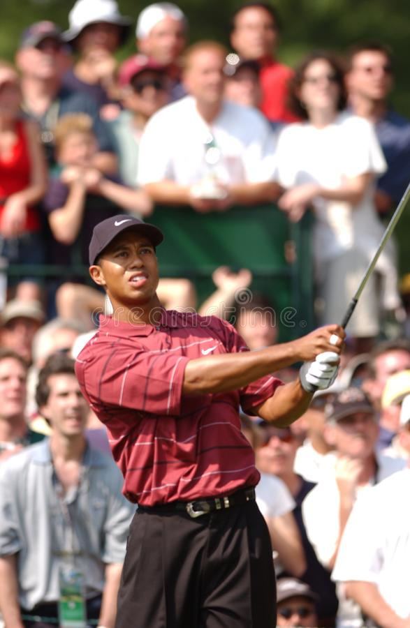 Tiger Woods Professional Golfer. Tiger Woods winner at the US Open in 2002 is an American professional golfer who is among the most successful golfers of all royalty free stock photo