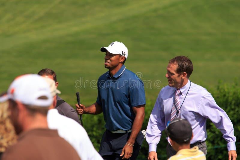 Tiger Woods przy pomnikiem obraz stock