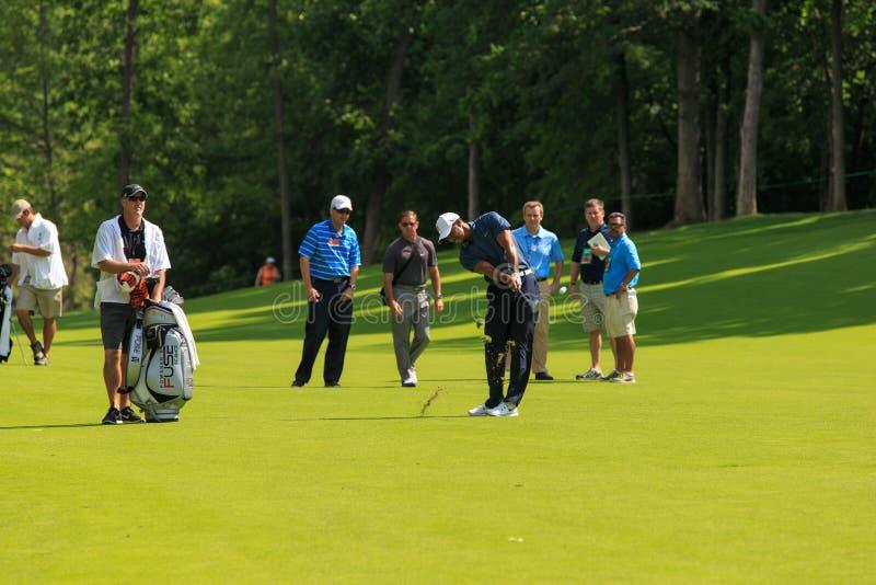 Tiger Woods przy pomnikiem obrazy royalty free
