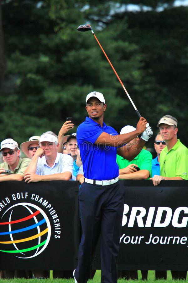 Tiger Woods Tee Shot images stock