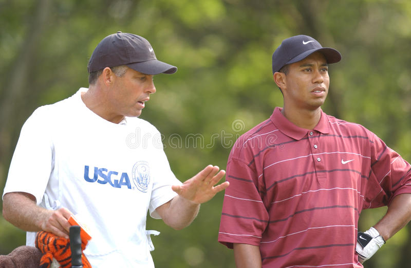 Tiger Woods U 2002 S ouvert image stock
