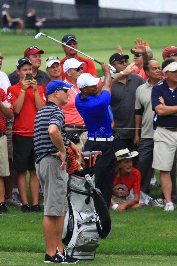 Tiger Woods w szorstkim zdjęcie royalty free