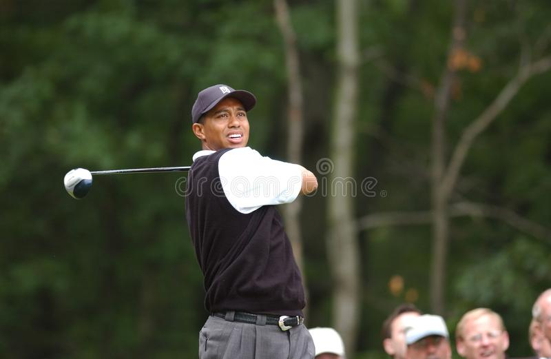 Tiger Woods Professional Golfer. Tiger Woods winner at the US Open in 2002 is an American professional golfer who is among the most successful golfers of all royalty free stock images