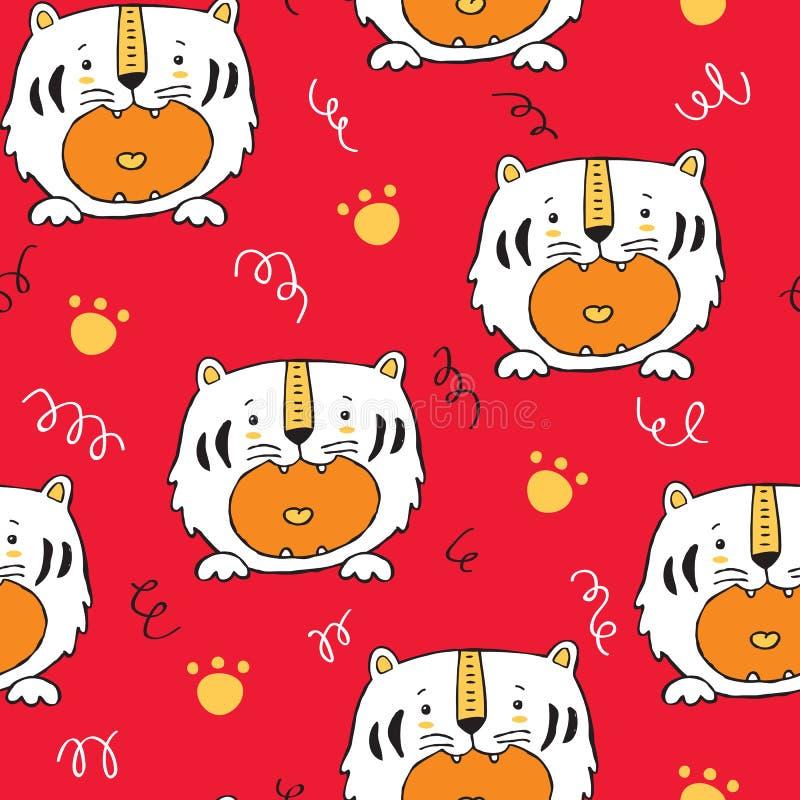 Tigerbaby showermodell royaltyfri illustrationer