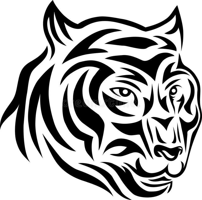 Tigergesicht Stammes- lizenzfreie abbildung