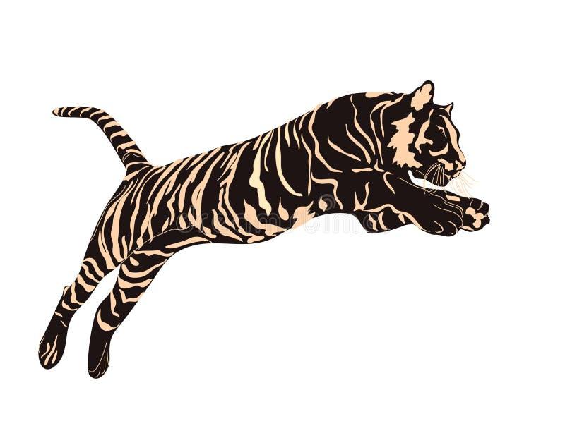 Tigergraphiken vektor abbildung