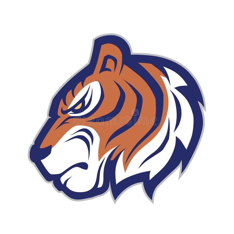 Tigerhauptmaskottchen vektor abbildung
