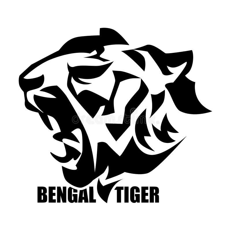 Tigerhauptsymbol stock abbildung
