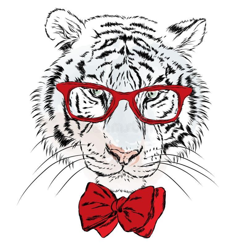 Tigerhipstervektor stock illustrationer