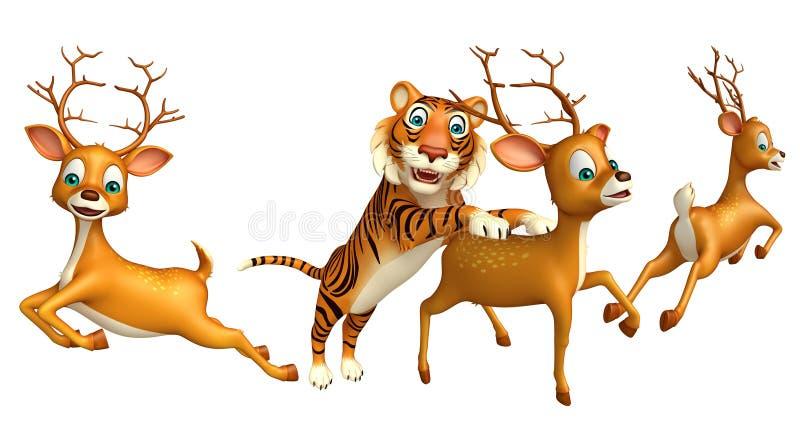 Tigerjagd lieb lizenzfreie abbildung