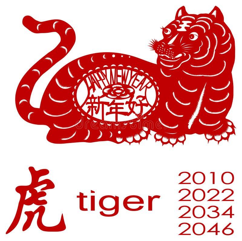 Tigerjahr stock abbildung