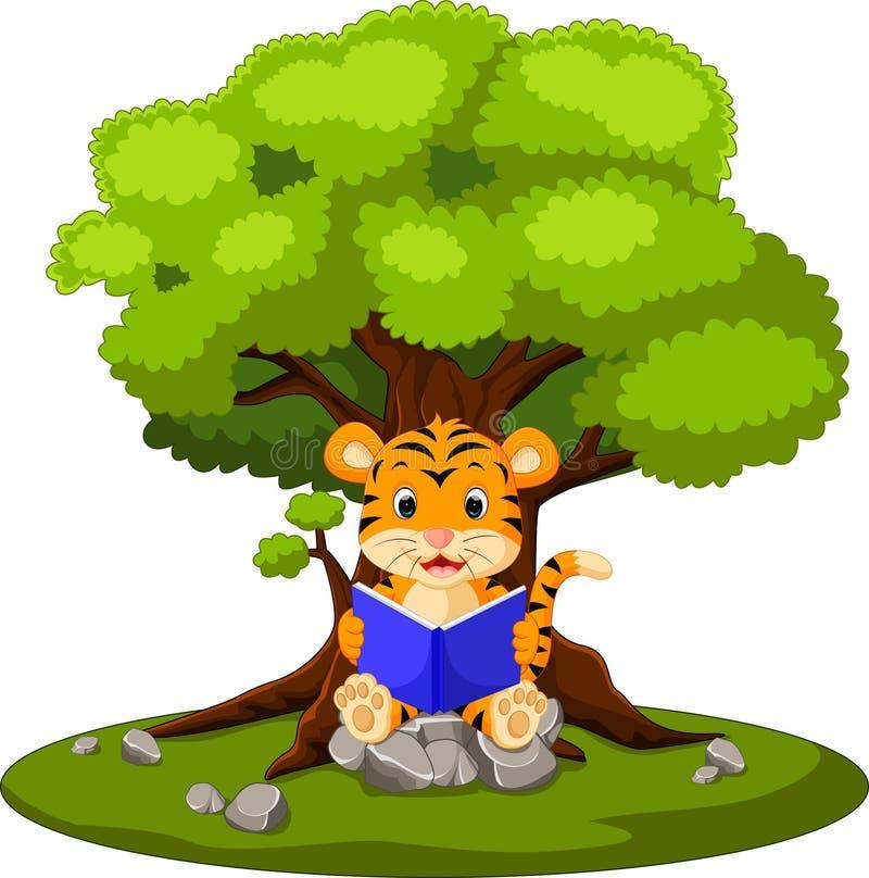 Tigerlesebuch lizenzfreie abbildung