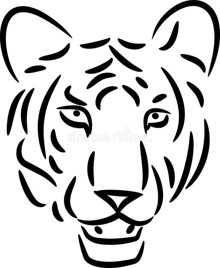 Tigerlinje konst royaltyfri illustrationer