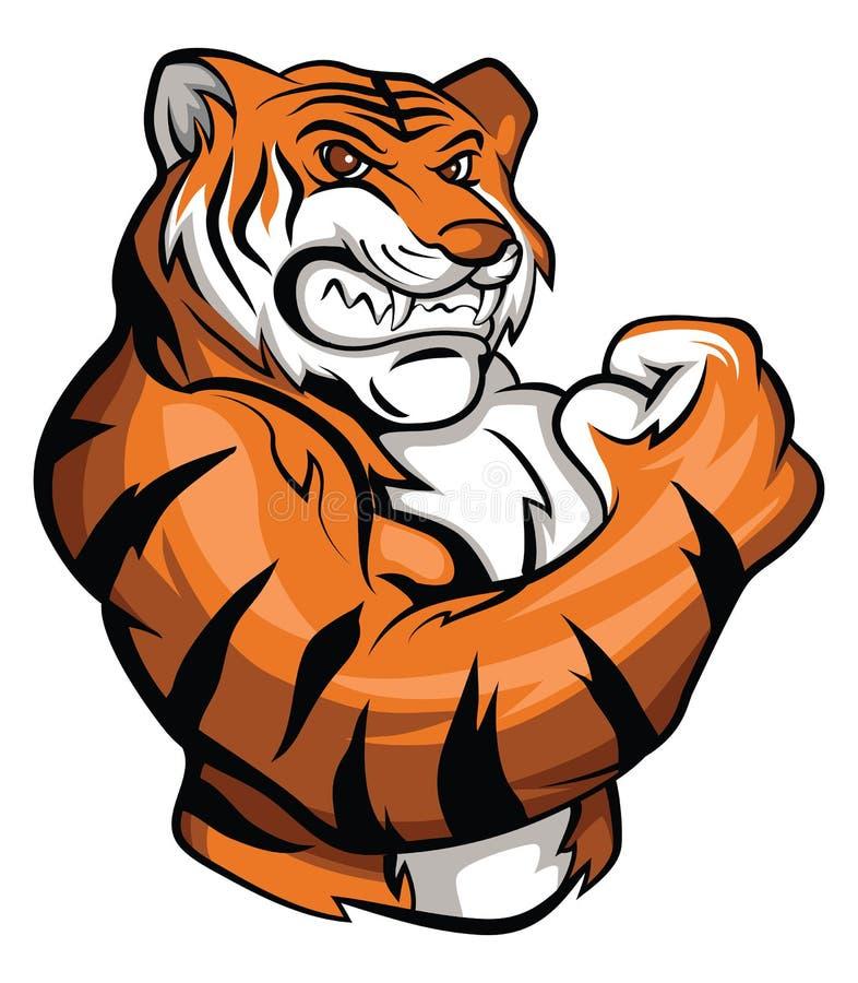 Tigermaskottchen stock abbildung