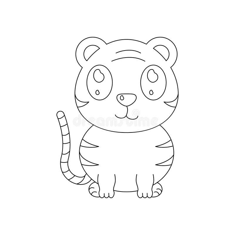 Tigern av leksaksymbolen för behandla som ett barn gåvan stock illustrationer