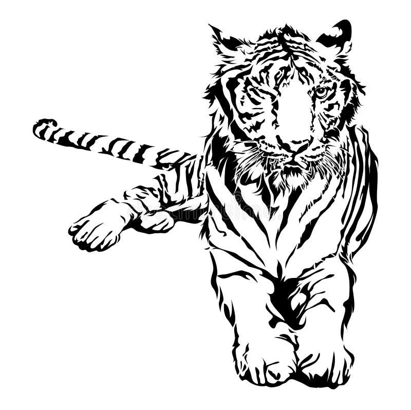 Tigersitzen vektor abbildung