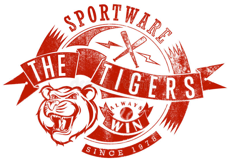 Tigersportswearen vektor illustrationer