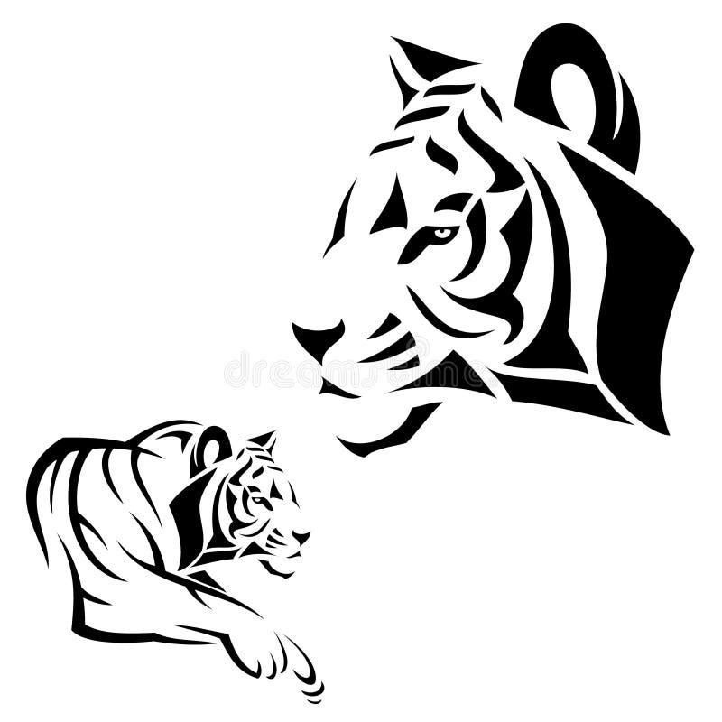 Tigertätowierung lizenzfreie abbildung
