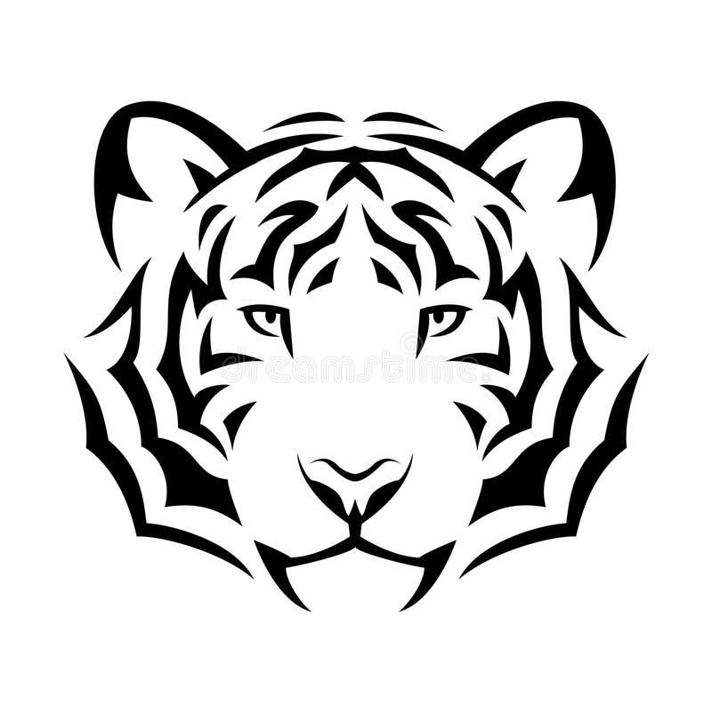 Tigertätowierung stock abbildung