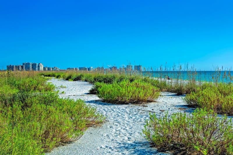Tigertail strand på Marco Island fotografering för bildbyråer