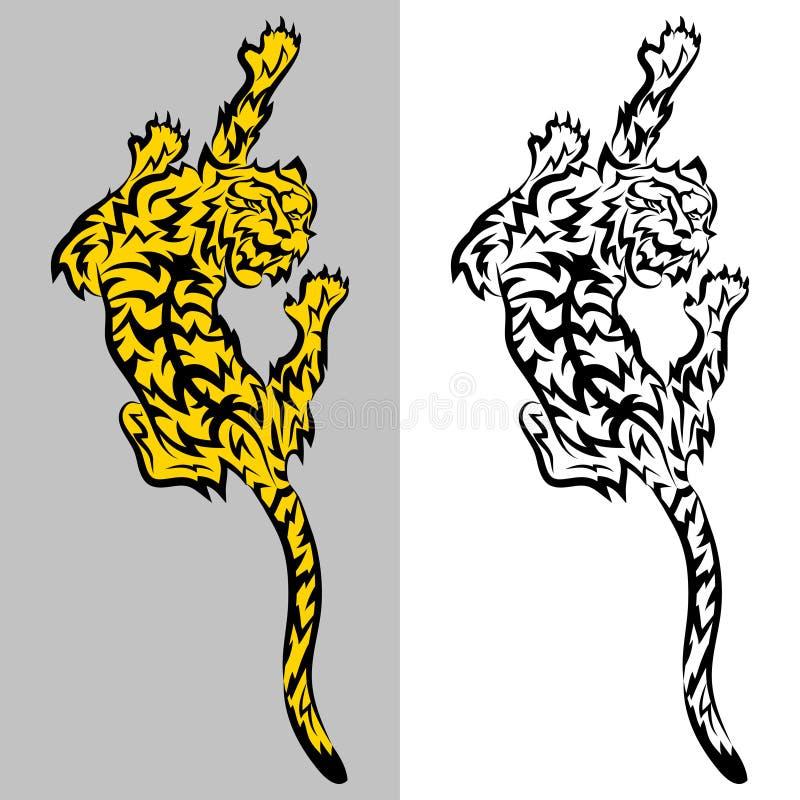 Tigertatoo royaltyfri illustrationer