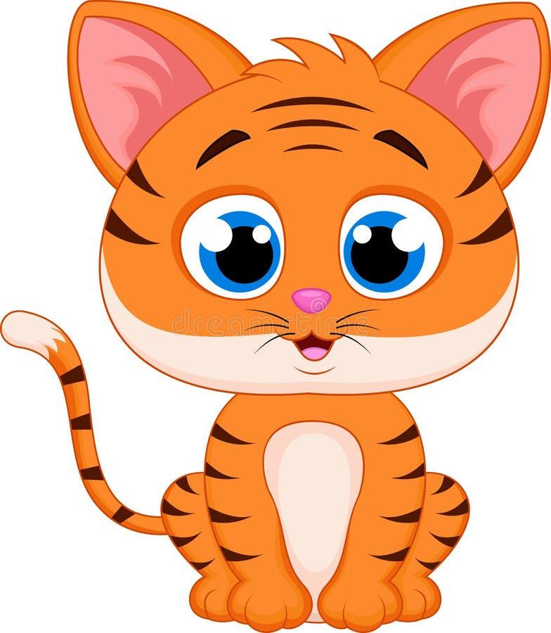 Tigertecknad film vektor illustrationer