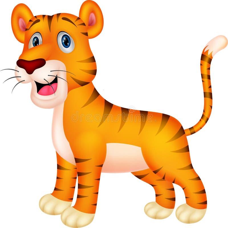 Tigertecknad film royaltyfri illustrationer