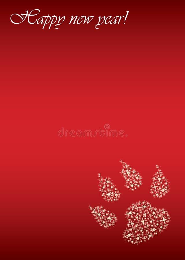 Tigertierkreis 2010 des glücklichen neuen Jahres lizenzfreie abbildung