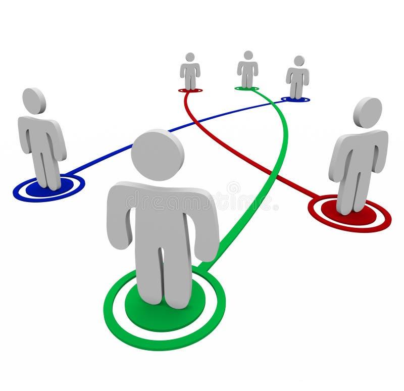 Tiges de partenariat - connexions personnelles illustration stock