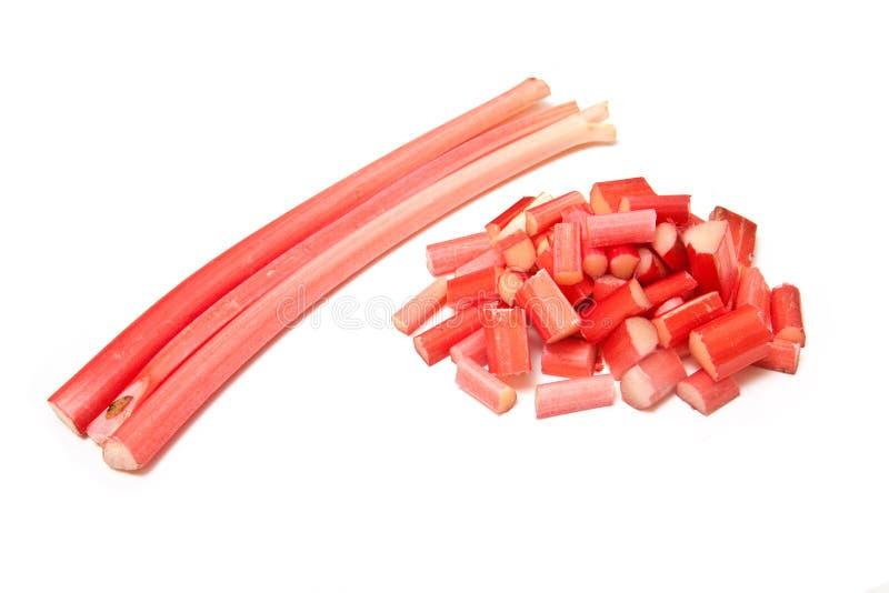 Tiges de rhubarbe photographie stock