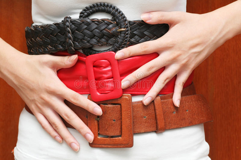 Download Tight Belts Around The Waist Stock Photo - Image of finance, economize: 10285966