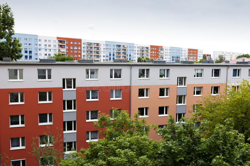 Colorful East Berlin Blocks royalty free stock image