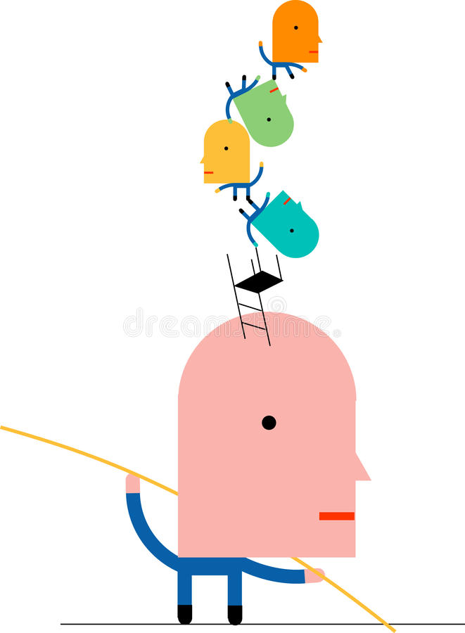Download Tightrope balance stock vector. Image of goal, daredevil - 27194631