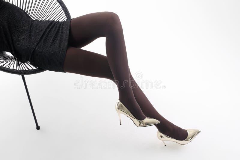 Legs high heels pantyhose, shadows sex