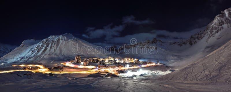 Download Tignes (Alps) At Night Panorama Stock Image - Image: 11311565