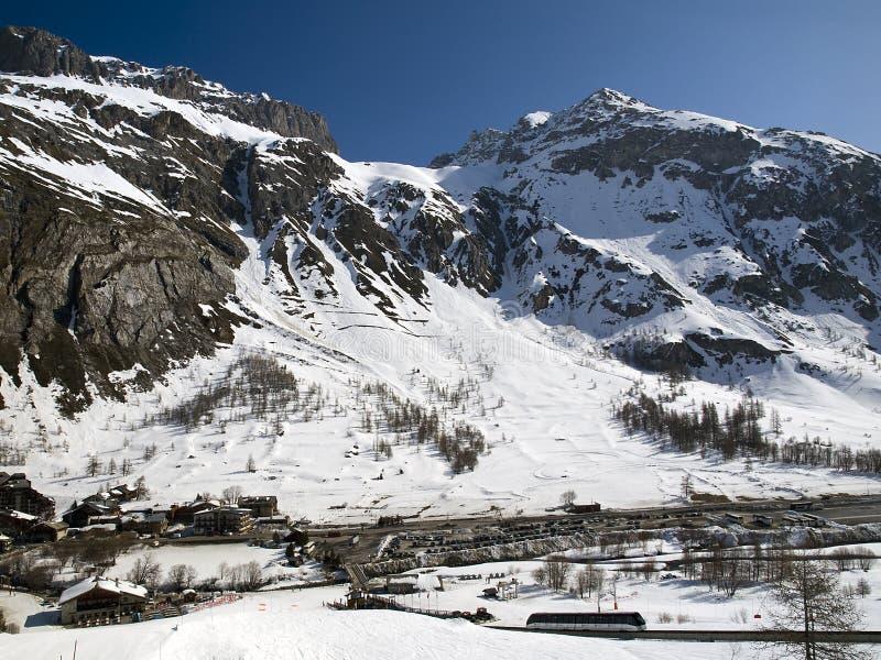 tignes de ski de ressource de d isere val photographie stock