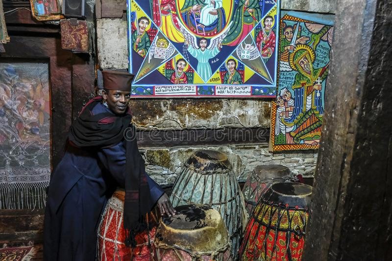 Debre Damo in Tigray, Ethiopia royalty free stock photo
