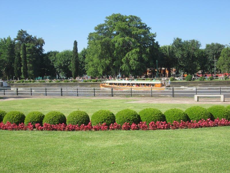 Tigre,布宜诺斯艾利斯阿根廷 河, watter,旅行,夏时 免版税库存图片