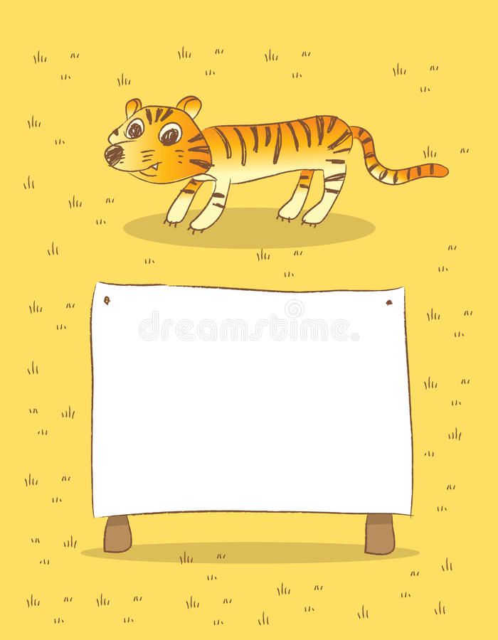 Tigre ilustração stock