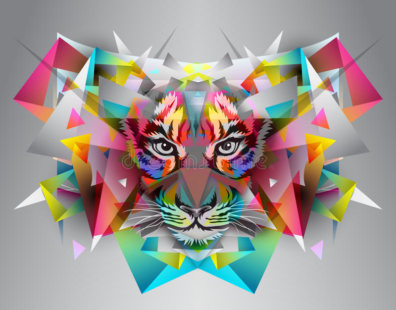Download Tigre stock de ilustración. Ilustración de creativo, cubos - 42438791