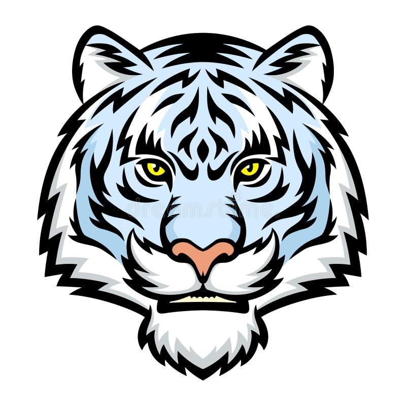 Tigre blanco stock de ilustración
