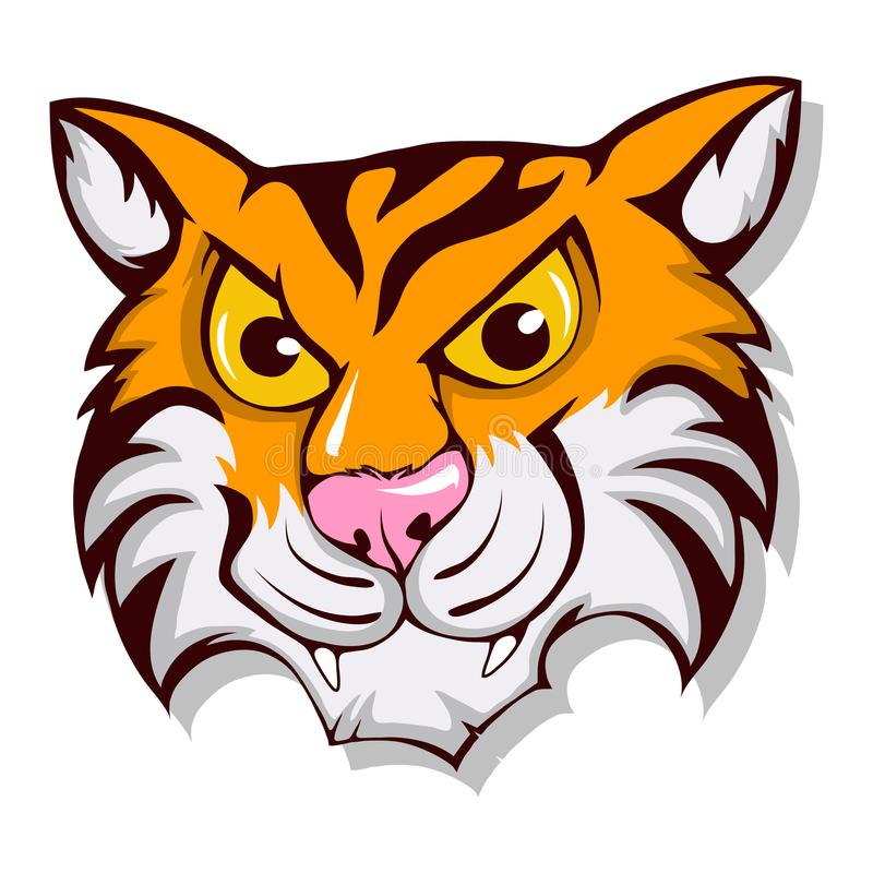 Tigre bonito dos desenhos animados ilustração stock