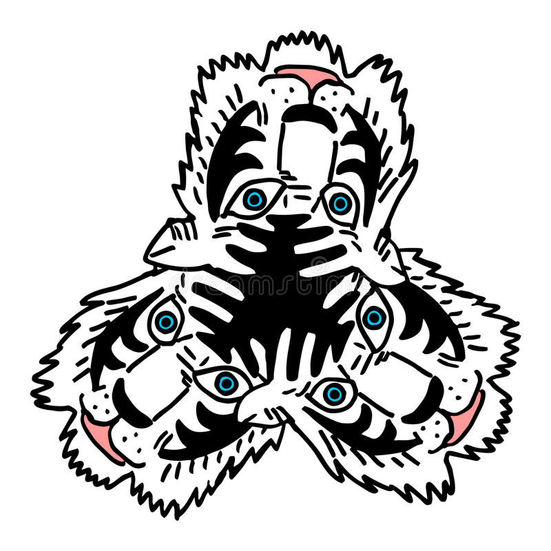Tigre branco ilustração do vetor