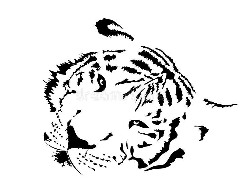 Tigre branco ilustração royalty free