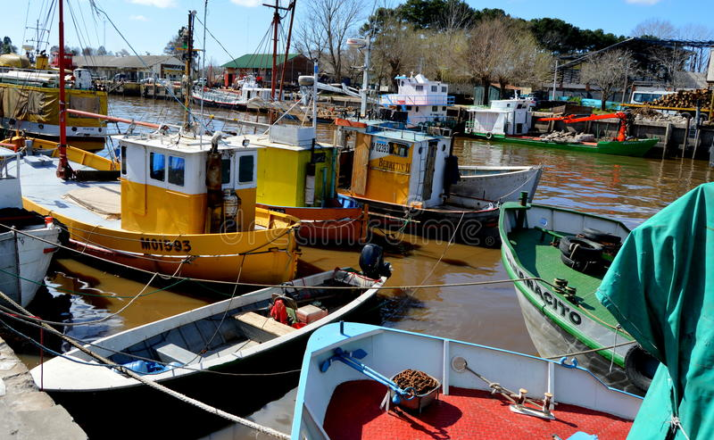 Tigre, Buenos Aires. Boats in the Puerto de Frutos of Tigre, Buenos Aires royalty free stock images