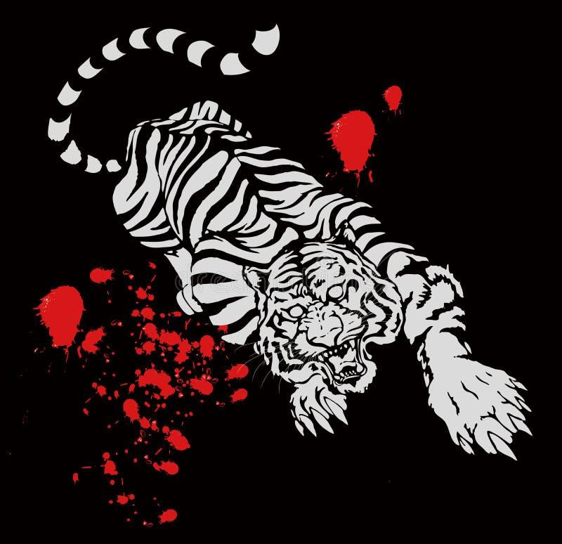 Tigre chinois illustration libre de droits