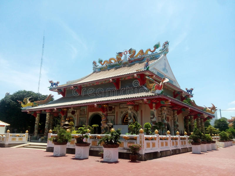 Tigre chinois de temple photographie stock libre de droits