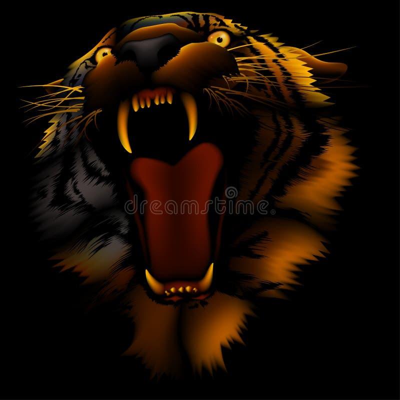 Tigre d'incendie illustration de vecteur